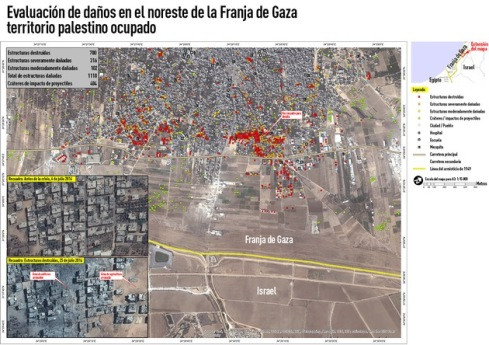 Gaza mapa satelital 2